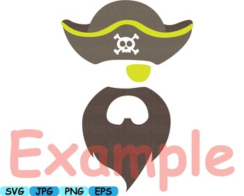 Pirate Photo Booth Props Pirates clip art game Party Birthday masks Games -182s