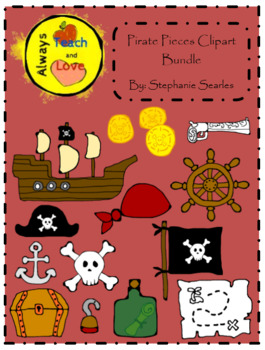 Pirate Pieces Clipart Bundle