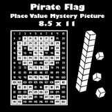 Pirate Place Value Math Mystery Picture - 8.5x11 - Jolly Roger