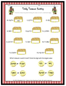 Pirate Place Value Packet