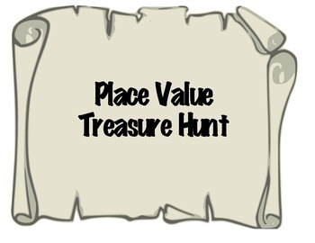 Pirate Place Value Treasure Hunt