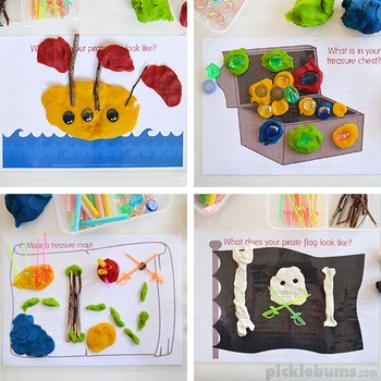 Pirate Play Dough Mats
