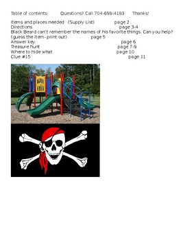Pirate Playground Treasure Hunt SUMMER CAMP AND BIRTHDAY FUN