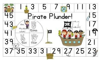 Pirate Plunder Math Board Game