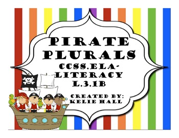 Pirate Plurals- Plural Practice with s, es, and y