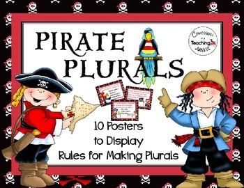 Pirate Plurals - Posters to Display Rules for Making Plurals