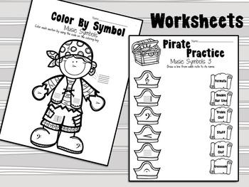 Pirate Practice Music Symbols One