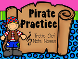 Pirate Practice Treble Clef Note Names