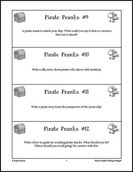 Pirate Pranks Writing Prompts
