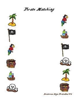 Pirate PreK Printable Learning Pack - Part 1