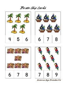 Pirate PreK Printable Learning Pack - Part 2
