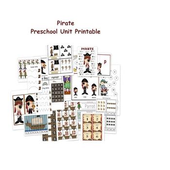 Pirate Preschool Printable - Unit