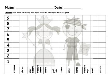 Pirate & Princess Graphing and Word Problems