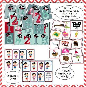Pirate Printable Activities for Preschool and Kindergarten by Julie ...
