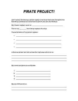 Pirate Project!