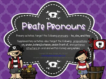 Pirate Pronouns – Language Activities with a Pirate Theme