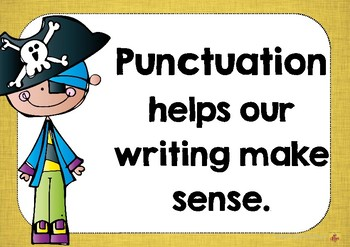 Pirate Punctuation Posters - Australian Made