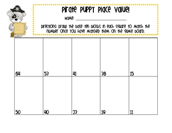 Pirate Puppy Place Value