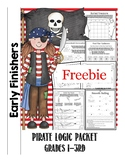 Early Finishers Puzzling Pirate Freebie