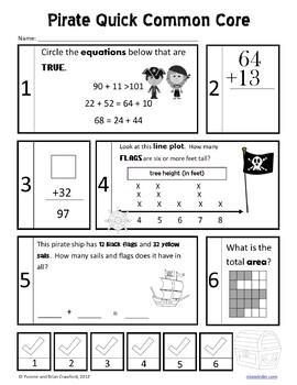 Pirates No Prep Common Core Math (2nd grade)