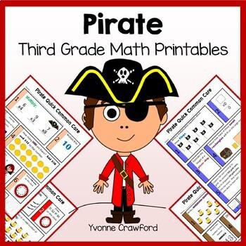 Pirates No Prep Common Core Math (3rd grade)