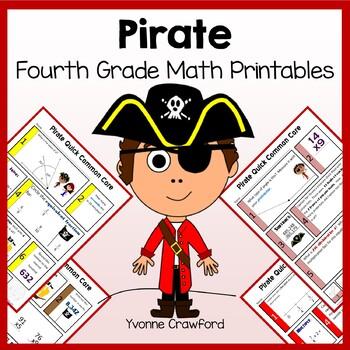 Pirates No Prep Common Core Math (4th grade)