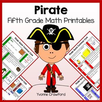 Pirates No Prep Common Core Math (5th grade)