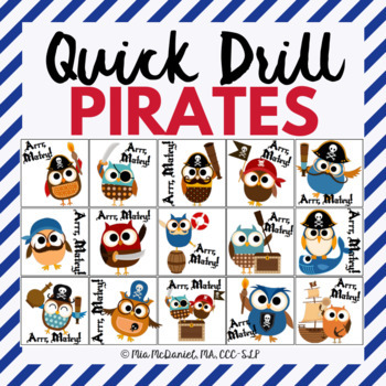 "Quick Drill Pirates {and ""talk like a pirate"" targets for drill!}"