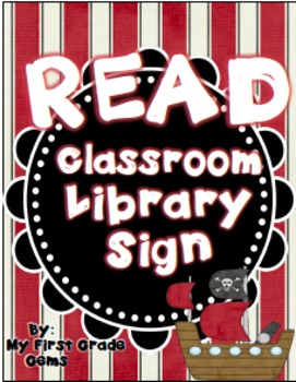 Pirate READ Classroom Library Sign
