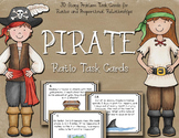 Ratio Task Cards - Ratios and Proportional Relationships - Pirate Themed