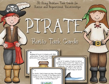 Ratio Task Cards - Ratios and Proportional Relationships -