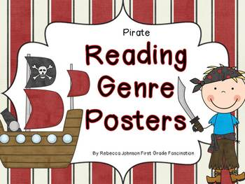 Pirate Reading Genre posters