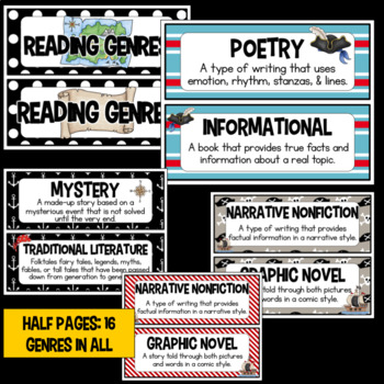 Pirate Reading Genres