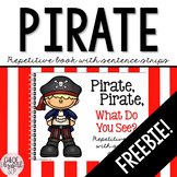 Pirate Repetitive Book with Sentence Strips - FREEBIE!