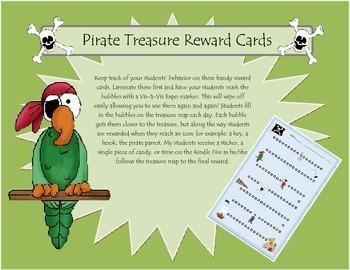 Pirate Reward Cards