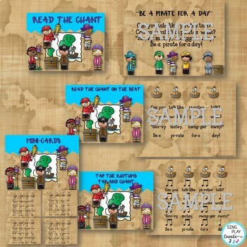 Pirate Rhythm Chants: Music Lessons, Activities and Printables K-6