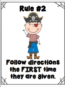 Pirate Rules- Personalized