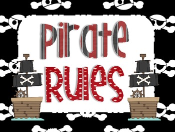 Pirate Rules Posters