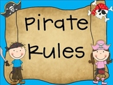 Pirate Rules for the Primary Classroom
