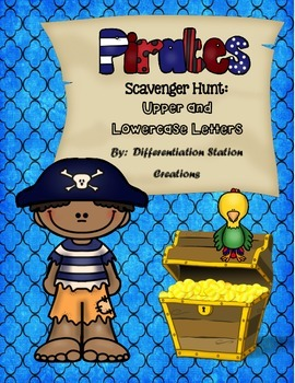 Pirate Scavenger Hunt: Uppercase and Lowercase Letters, Printables