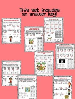 Pirate Secret Message Math (Multiplication, Division, Addition, Subtraction)