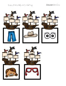 Pirate Sensory Stakes: Body Parts and Clothing