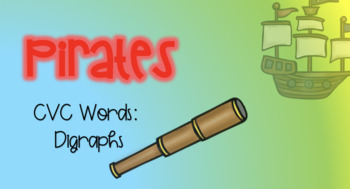 Pirate Sensory Stakes: CVC: Digraphs