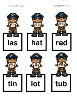 Pirate Sensory Stakes: CVC Words