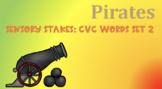 Pirate Sensory Stakes: CVC Words Set 2