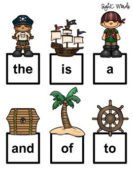Pirate Sensory Stakes: Sight Words