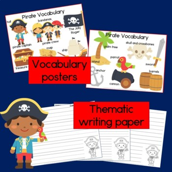 Pirate Sentence Picture Match Reading Center