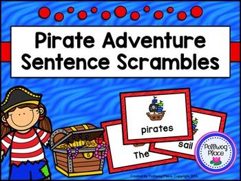 Sentence Scrambles: Pirate Sentence Building Activity