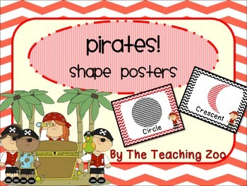 Pirate Shape Identification Posters