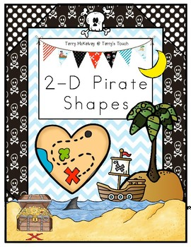 Pirate 2-D Shape Poster